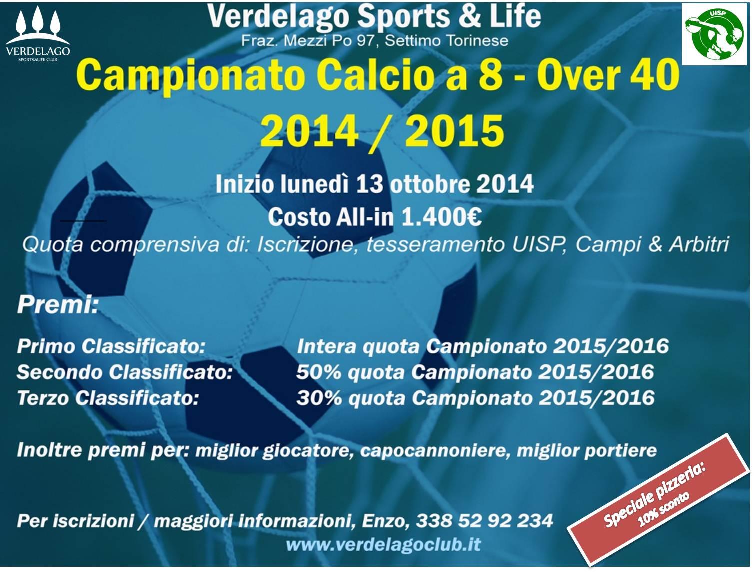 Locandina calcio 8 over 40 finale