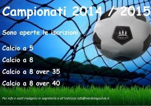 locandina campionati calcio 2014_2015