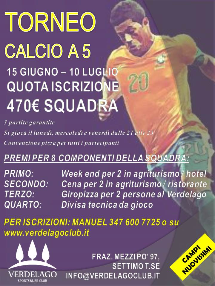 TORNEO CALCIO 5 LOCANDINA