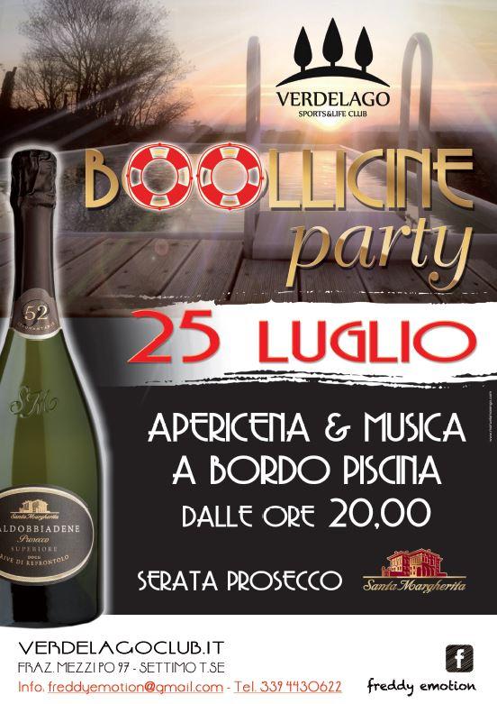 locandina bollicine party